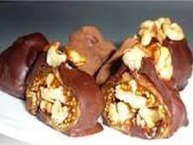 Шоколадные конфеты с грецким орехом