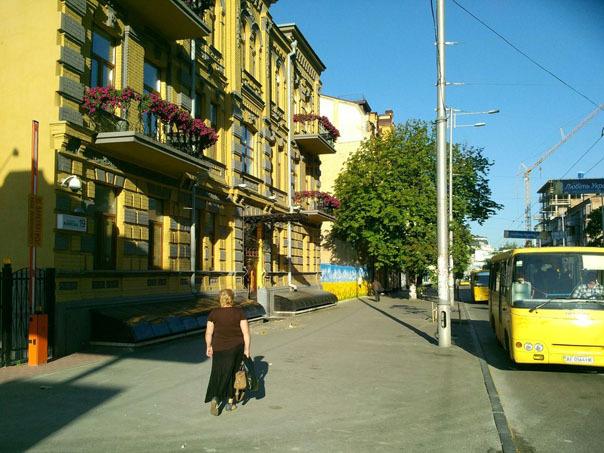 Патриотические заборы в Киеве и Кременчуге