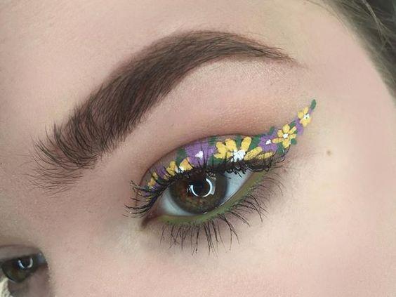 квітковий макіяж
