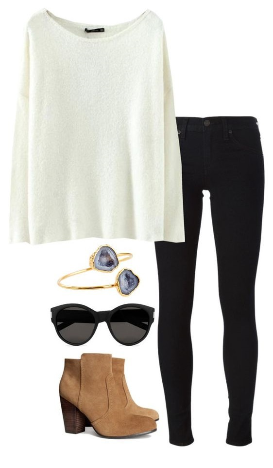 Білий светр з чим носити