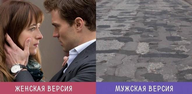 Взгляд на вещи мужчиной и женщиной