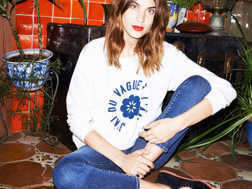 Алекса Чанг ждет звонка в рекламе AG Jeans