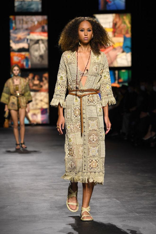 вязаное платье диор