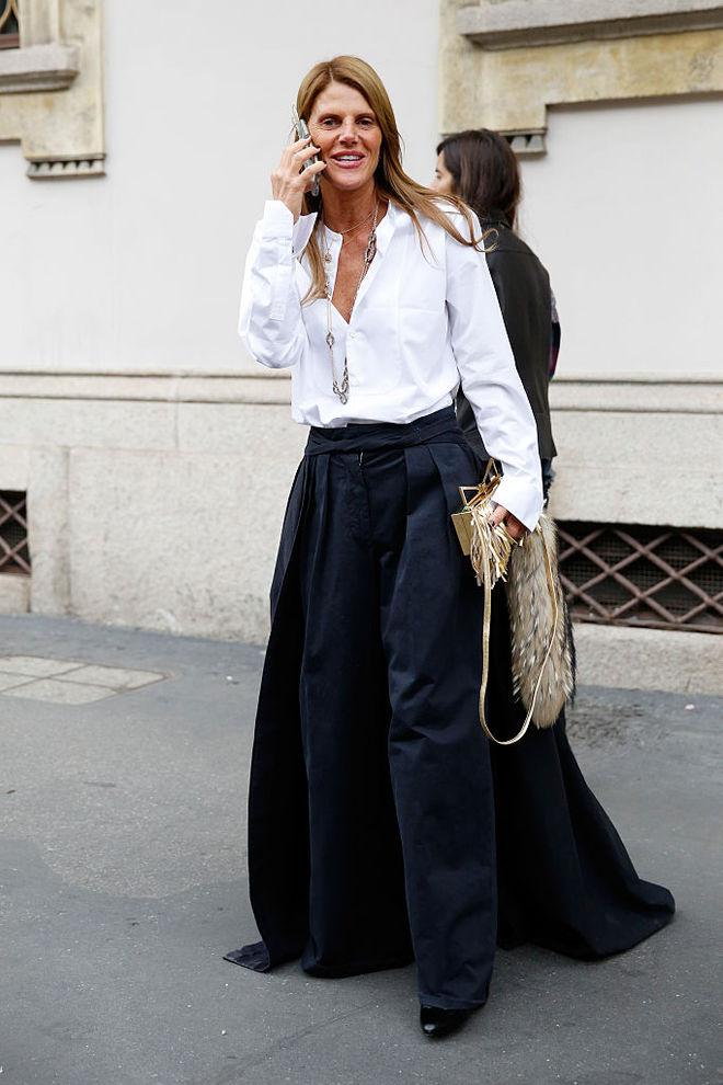 З чим носити чорні брюки восени