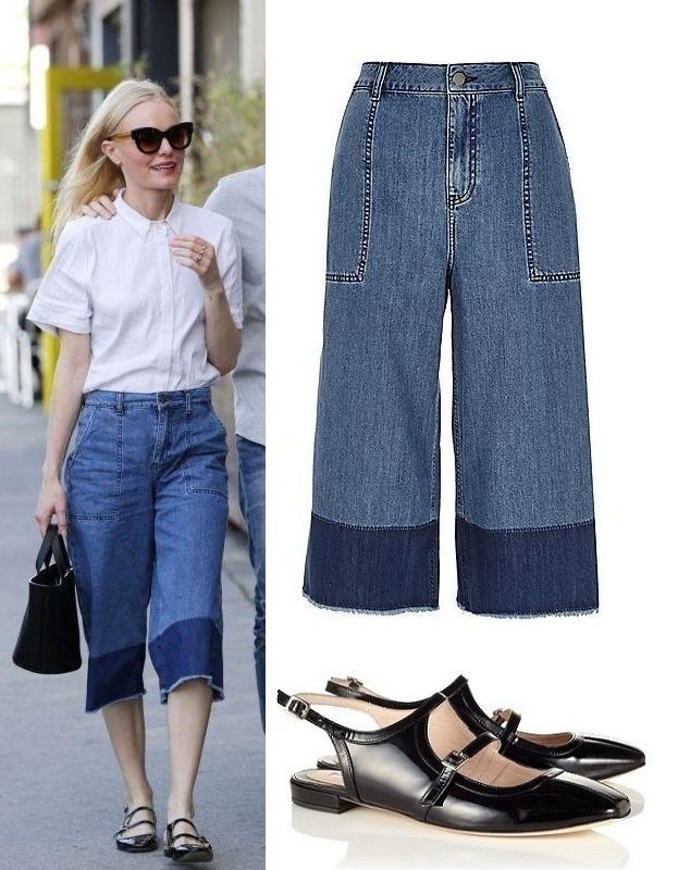 З чим носити джинсові кюлоти: фото