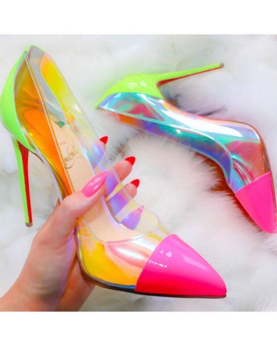 Неоновая обувь 2019