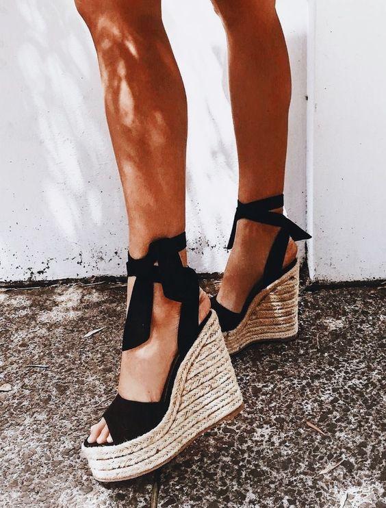 Модные сандалии эспадрильи