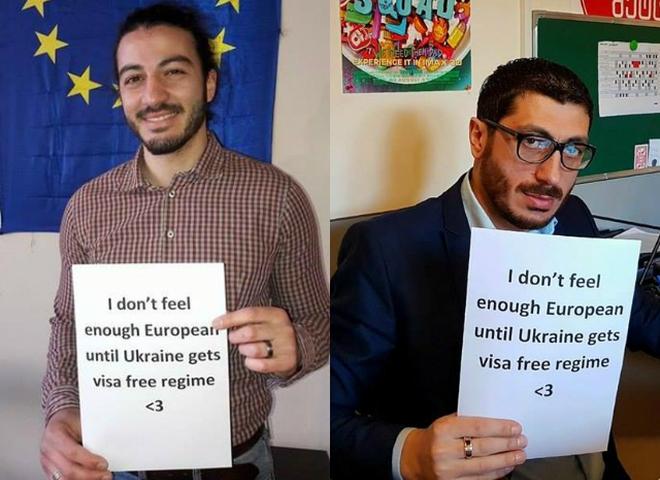 #Visa_Free_For_Ukraine: в Грузии стартовал флешмоб в поддержку безвиза для Украины