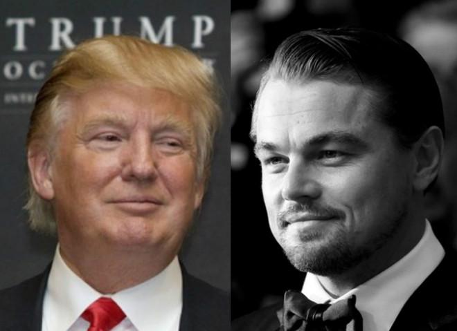 Дональд Трамп и Леонардо Ди Каприо