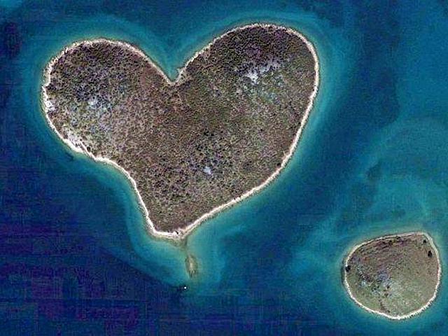 Самые романтические места планеты в виде сердца: Галесняк, Хорватия