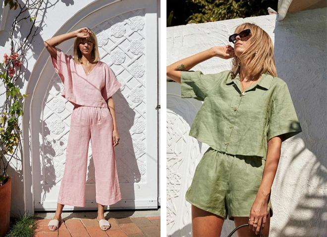 Модні лляні костюми на літо