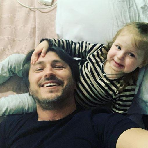 Сергей Притула с дочкой Соломией