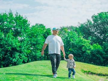 Егор Крутоголов с сыном