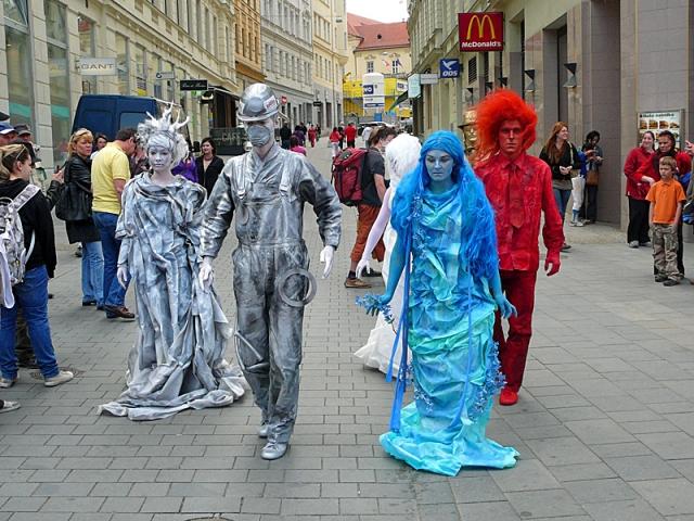 Живые скульптуры: Чехия