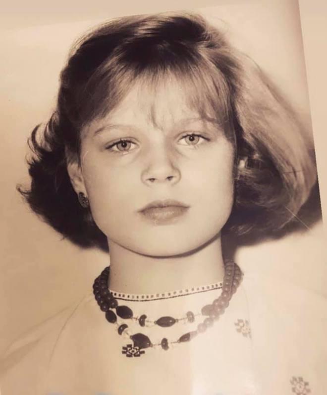 Оля Фреймут в детстве