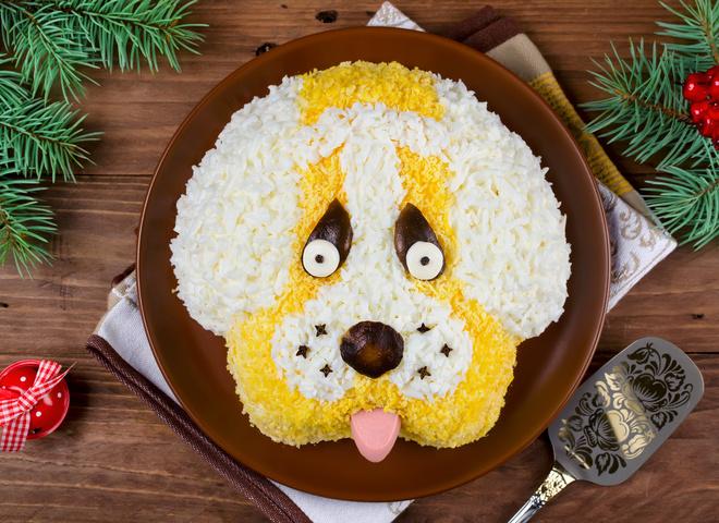 Что приготовить на китайский Новый год Собаки 2018: салат