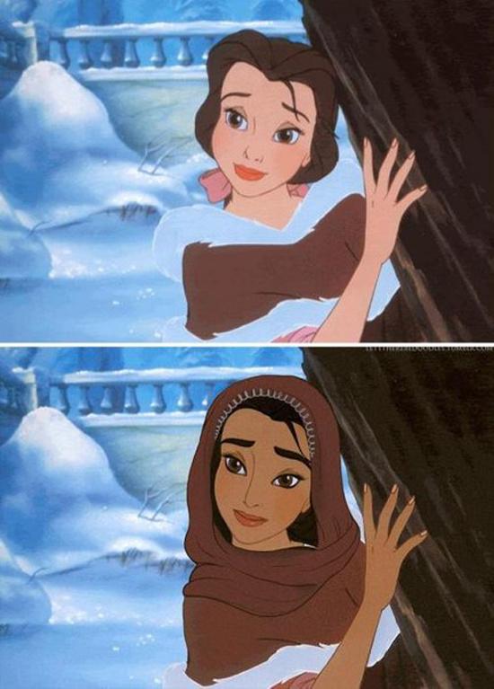 Если бы Диснеевские принцессы принадлежали к другим расам и национальностям