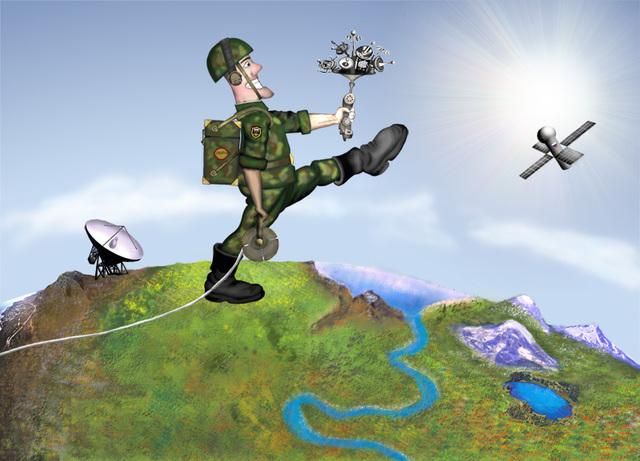 Открытка на День войск связи