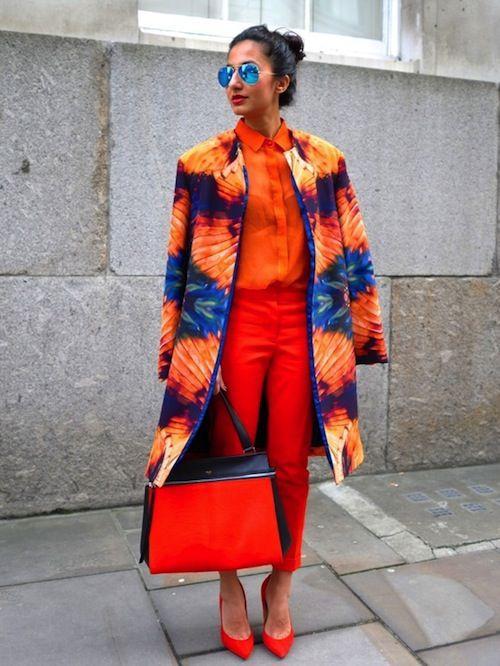 Помаранчевий колір - хіт осені 2018