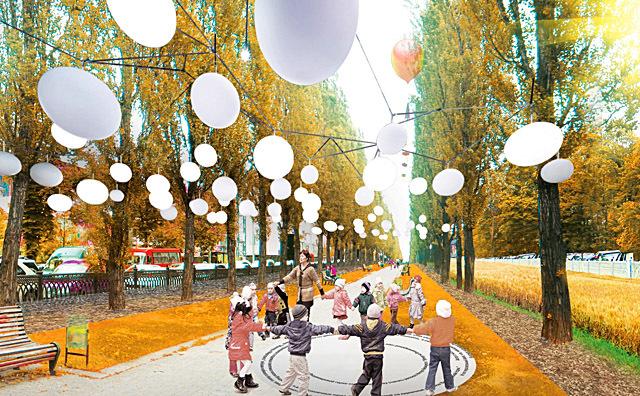 Проект освітлення центру Києва Васильєва Жені