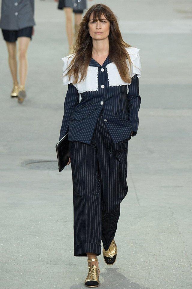 Каролін де Мегре на показі Chanel