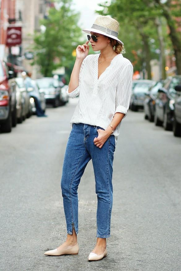 Стритстайл: mom-джинсы