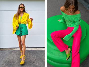 Одяг в яскравому зеленому кольорі — тренд 2021