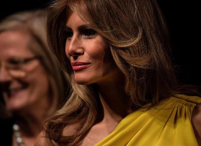 Мелания Трамп в платье от Christian Dior