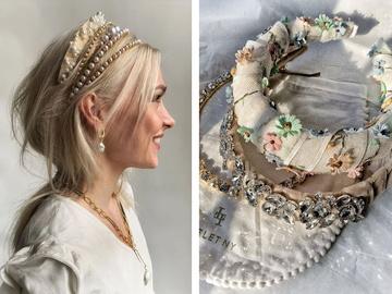 Модные прически с обручем на разную длину волос