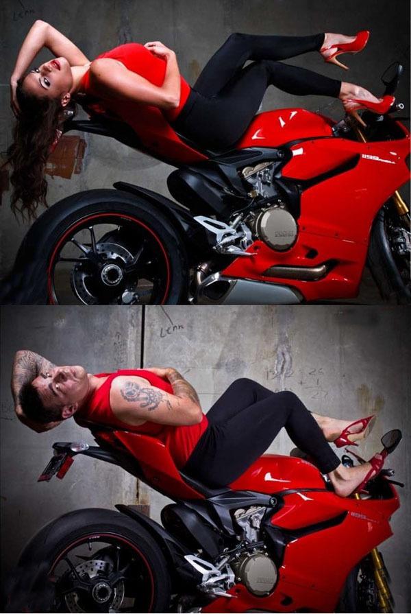 Если бы мужики рекламировали мотоциклы