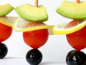 Овощные канапе.