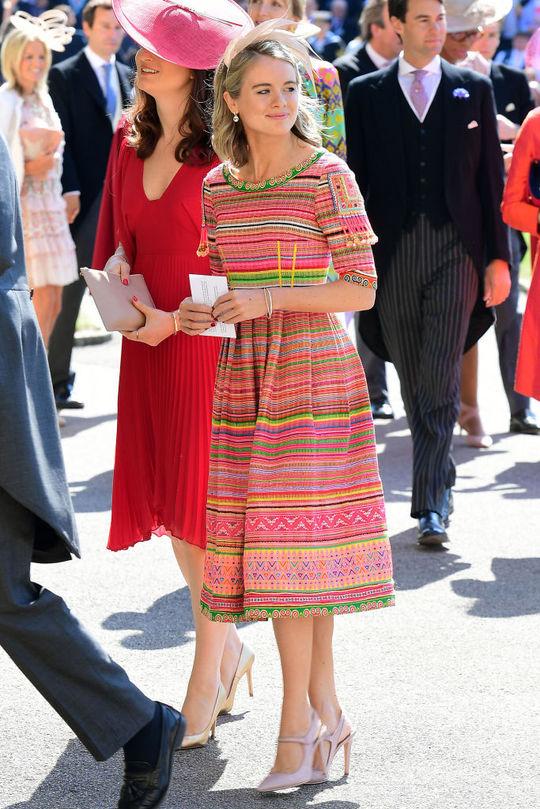Крессида Бонас на весіллі Меган Маркл і принца Гаррі