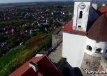 Замок Паланок c высоты птичьего полёта