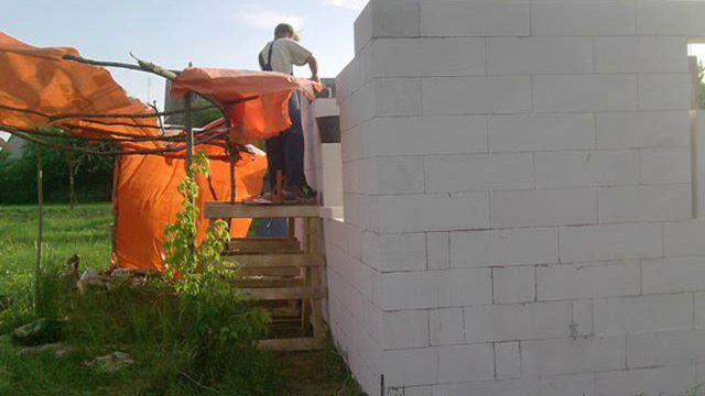 Строим дом из газобетона своими руками поэтапное строительство