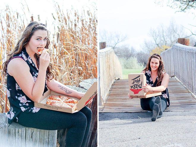 Фомантическая фотосессия с пиццей