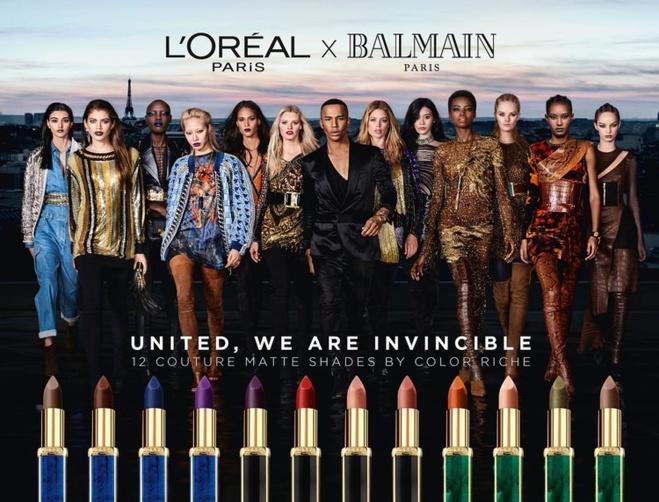 Balmain и L'Oréal Paris помады