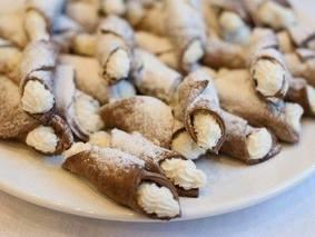 Итальянские трубочки с творожным кремом