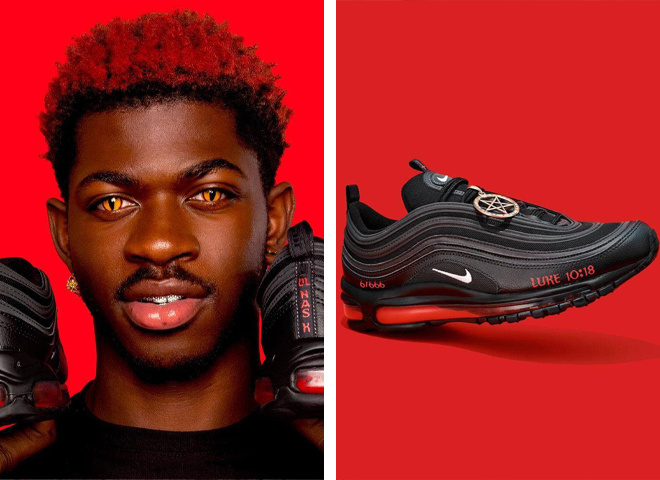 """Nike подає в суд на бруклінську організацію художників MSCHF, яка випустила """"кросівки Сатани"""""""