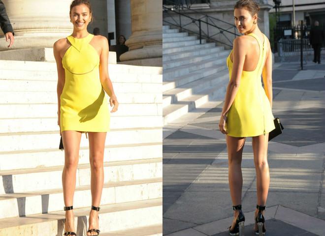 Образ дня: Ирина Шейк на показе Versace в Париже