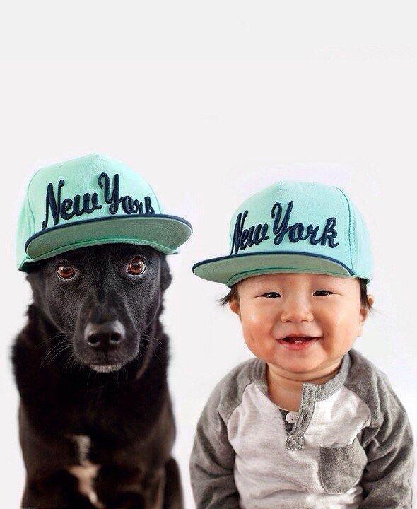Няшная фотосессия Джаспера и собаки Зои