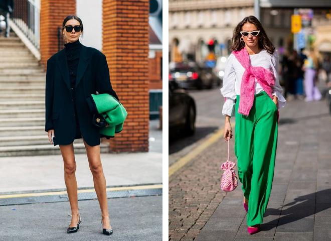 10 модных вещей на осень в модном зеленом цвете
