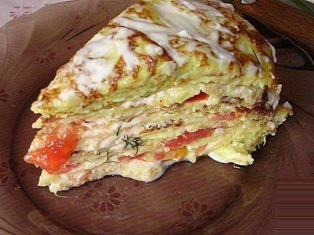 Кабачковый торт рецепт с чесноком