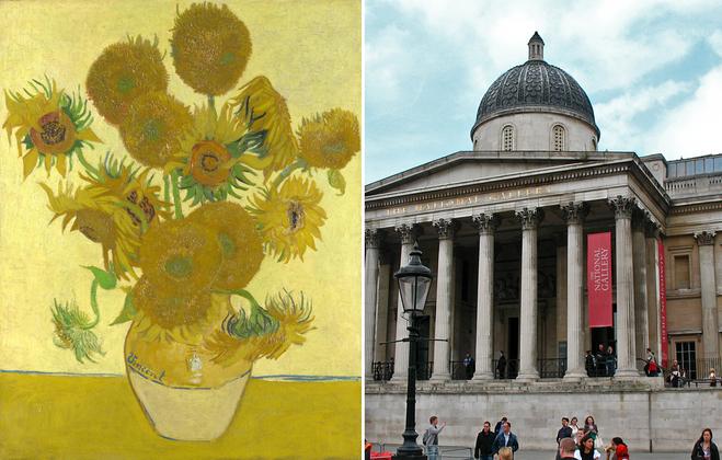 Арт-туризм: Соняшники - Лондонська Національна галерея
