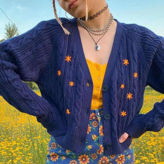 Кардиган с ярким принтом — тренд весна-лето