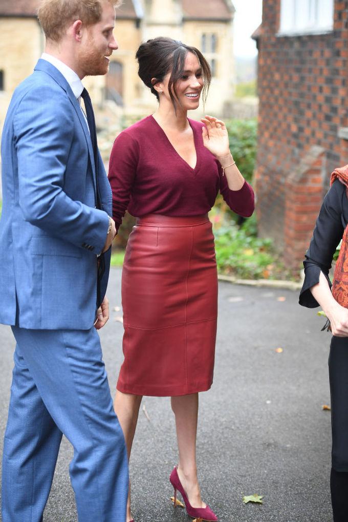 Меган Маркл і королева Летиція в спідниці Hugo Boss