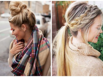 Зачіски для прохолодної погоди