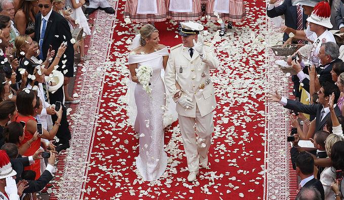 Свадьба князя Монако Альбера II и Шарлин Уиттсток