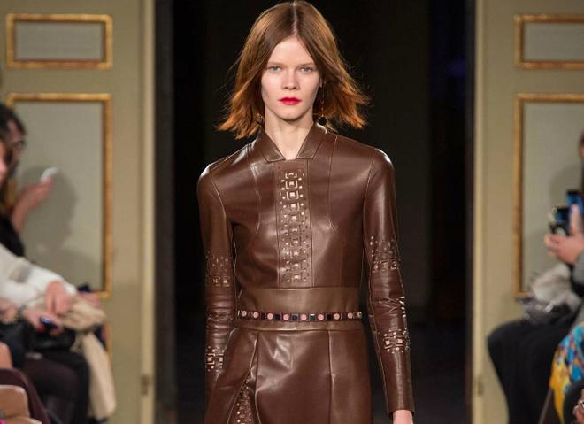 Модные тенденции зимы 2016: кожаные платья