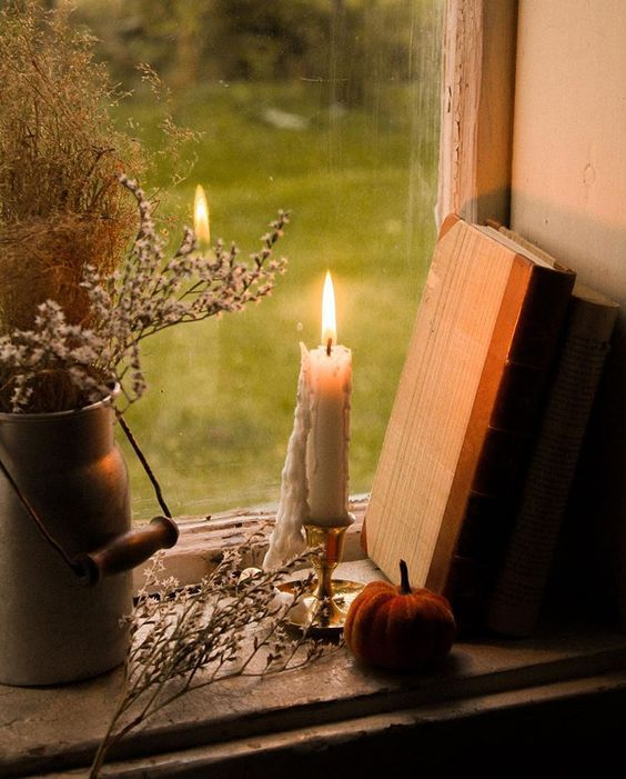 Осенний декор со свечами
