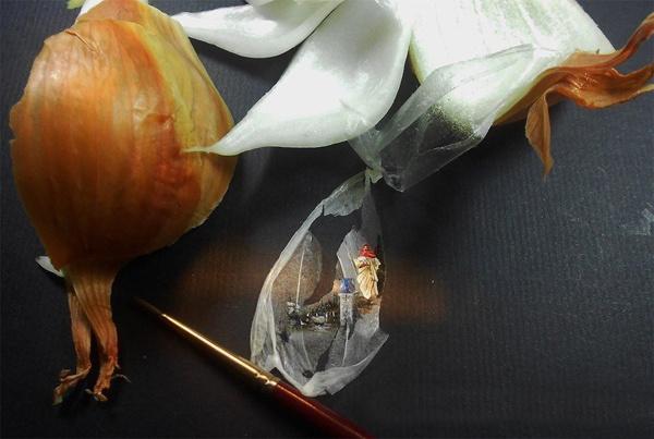 Шедевры на кусочках еды от Hasan Kale